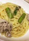 簡単!アスパラと豚肉のペペロンチーノ