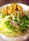 豚肉とエノキのノンオイル簡単サラダ