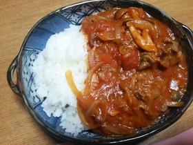 時短!簡単!トマト缶のハヤシライス