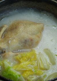 ♪ダッチオーブンde中華風鶏粥(丸鶏入)