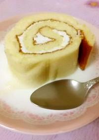 ロールケーキ(スイスロール)の牛乳がけ★