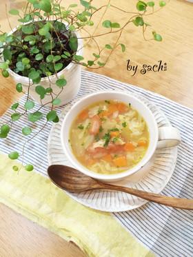 ウインナーとたっぷり野菜だしのスープ♪