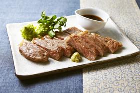 和牛のステーキ わさびソース