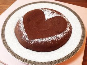 炊飯器で簡単♡生チョコ風ガトーショコラ