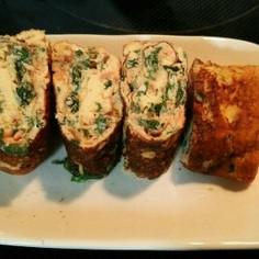 鮭フレークと大葉の卵焼き