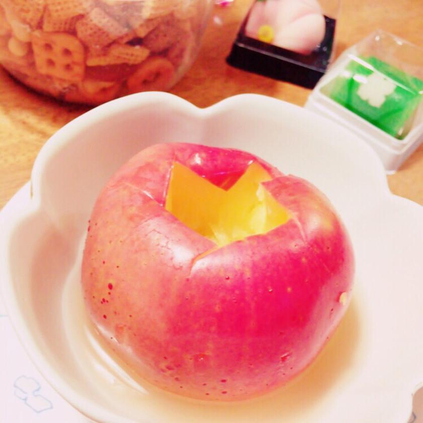 簡単!レンジで丸ごと焼き林檎