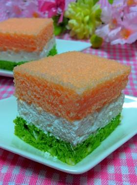 ひな祭りケーキ♪簡単HMでふんわりケーキ