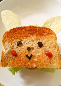 ウサギさんのサンドイッチ
