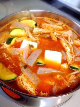 テンジャンチゲ(納豆を使った味噌チゲ)