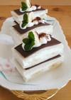 ショートケーキ風♪チョコバナナサンド