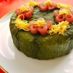ひな祭りにも♪晴れの日のめはり寿司ケーキ
