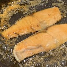 簡単!!冷凍鮭のふんわりみりん焼き