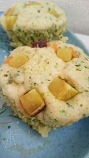 赤ちゃん、子供に♪お野菜と豆腐の蒸しパンの写真