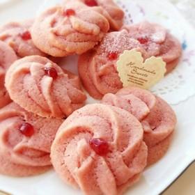 ホワイトデーにも✾苺の絞り出しクッキー