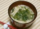 あおさとエノキのお味噌汁