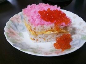 残り物ゴボウサラダ救出ひな祭り寿司