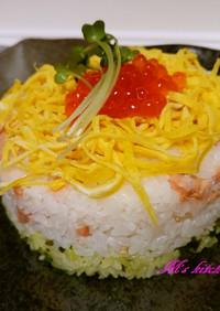 鮭の親子ひなデコ寿司