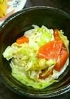 春キャベツと玉ねぎと焼き竹輪のサラダ