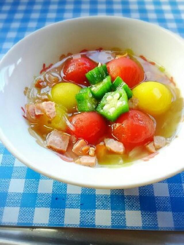 ♪ミニトマトのスープ煮♪