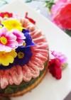 お花で華やか✿3色チーズケーキ✿