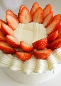 簡単 いちごのショートケーキ・直径15㎝