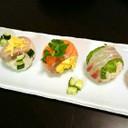 刺身盛合せで!簡単手まり寿司