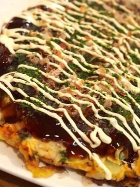 簡単ふわふわ小麦粉で関西風お好み焼き