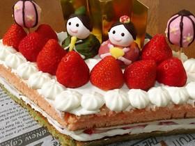 ホットケーキミックスで作るひな祭りケーキ