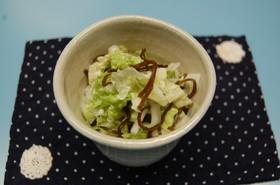 白菜の塩こんぶサラダ