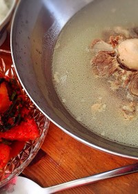 圧力鍋で牛テールスープ