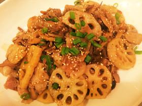 常備菜★豚肉とレンコンの甘辛炒め