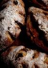 レーズンと胡桃のハードパン*自家製酵母