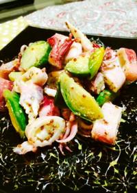 春〜イカと芽キャベツの粒マスタードサラダ
