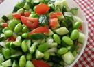 枝豆とトマトと玉ねぎサラダ☆