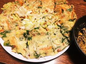 カリッふわ 明日葉と納豆のチヂミ