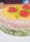 雛祭りに❁菱餅カラーのセルクルちらし♡