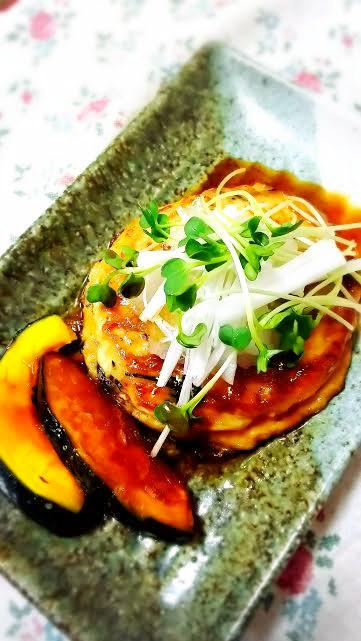 絶品!ひじき入り照り焼き豆腐ハンバーグ