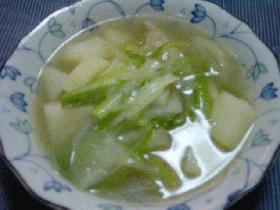鶏モモ肉の石狩鍋風スープ
