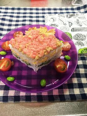 ひな祭りに☆簡単!ひし形ちらし寿司