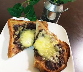 名古屋名物小倉トーストonチーズ