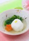 桜鯛のしんじょう~春野菜を添えて~