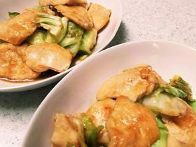 鶏むね肉と春キャベツの生姜焼き