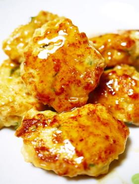 絹ごし豆腐と大葉入り☆鶏つくね
