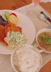 タルタルソースと白身魚のフライ☆