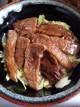 焼肉の残ったお肉で♪焼肉丼♫