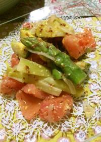 春野菜とトマトのマスタードマリネ