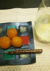 金柑の甘露煮とシロップジュース