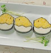 ひよこの飾り巻き寿司 イースターお弁当にの写真