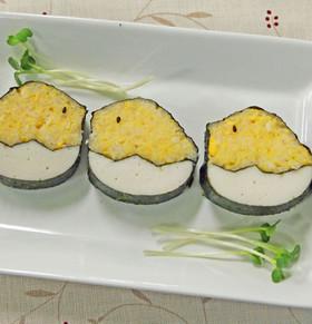 ひよこの飾り巻き寿司 イースターお弁当に
