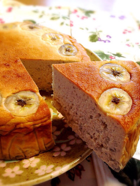 お砂糖なし。バナナチーズケーキ。